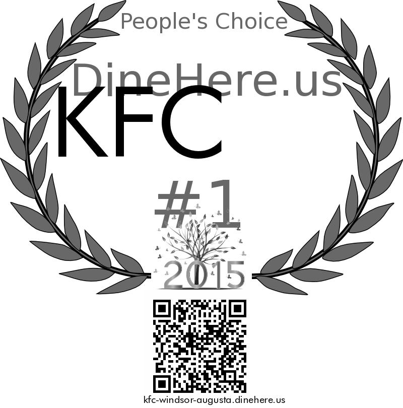KFC DineHere.us 2015 Award Winner